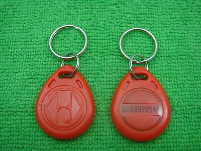 100p R 125khz Rfid Proximity Id Identification Token New Red