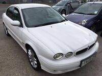 jaguar x type white petrol 2.5 manual leather