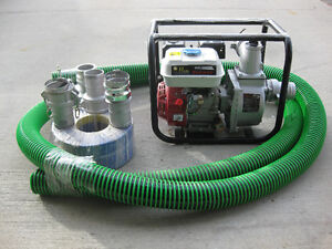 "3"" WATER PUMP c/w SUCTION & DISCHARGE HOSE"