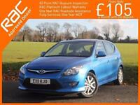 2011 Hyundai i30 1.6 Comfort 5 Door Auto Air Conditioning Alloys Only 63,000 Mil