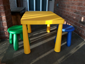 Kids table and 2 stools (IKEA)