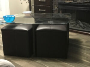 Coffee Glass Centre table with 4 seating couch 200$