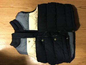 Incredibly warm boys outer down vest - size 2T (Reversible)
