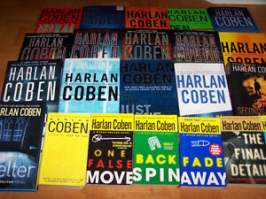 23 HARLAN COBEN books - 17 are hardcover