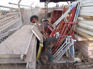 used frame scaffolding and attachments