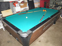 DYNAMO 4X8 COIN OPERATED POOL TABLE GREAT SHAPE