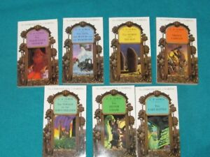 Chronicles of Narnia books  #1-3, #5 -#7 & 3 dvds