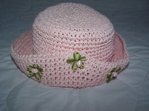 Girls Straw Hat Size 12-18 months