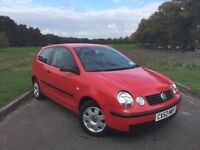 2002/52 VW VOLKSWAGEN POLO 1.2 PETROL, MANUAL, 3-DOOR HATCHBACK***NEW MOT***GENUINE 77,000 MILES