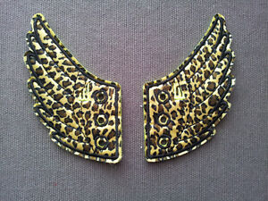 OFFICIAL SHWINGS SAFARI LEOPARD PRINT FOIL SHOE WINGS NEW