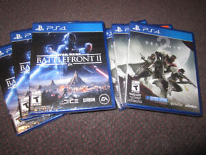 Battlefront II, Destiny 2 for PS4 - Brand New, $29.00 Each