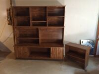 Old tv stand/ shelves