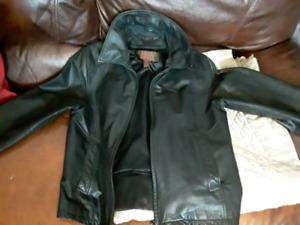 Man winter outerwear leather