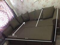 Corner sofa bed with under storage