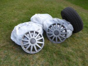 "16"" Goodyear winter tires on rims -"