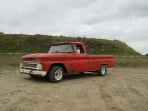 1963 C10 Chev, 3 on the tree standard, independant rear long box