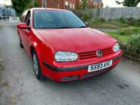 1988 RED VOLKSWAGEN GOLF 1.4 S LOW MILEAGE CHEAP CAR BARGAIN BUY