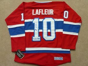 Guy Lafleur Montreal Canadiens signed jersey hologram