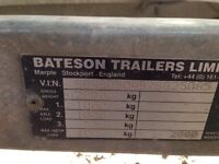 Bateson 16X6 flatbed trailer twin axle 2ton