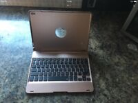 Pink gold iPad case with keyboard