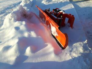 Snow blade power angle