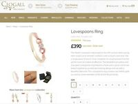 LADIES CLOGAU,, Diamond,Rose and Yellow Gold, LOVESPOONS Ring