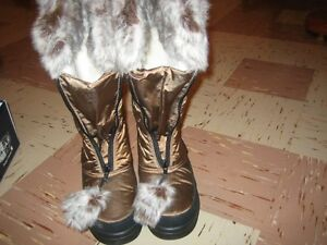 Brand New-Gorgeous Pajar Boots in Bronze