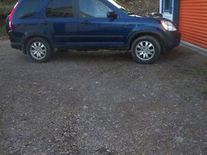 2005 Honda CR-V blue SUV, Crossover