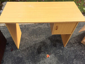 Free- Two computer desks and one chair in good condition
