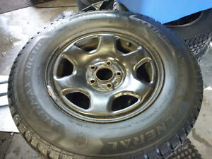 235/70R16 Winter tires and rims with TPS