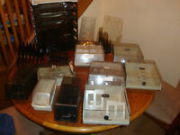 office supplies , files Trays , dividers, business cards,