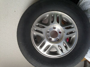 Mud and Snow Tires with aluminum rims