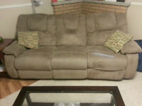 Clean Beige Recliner Couch
