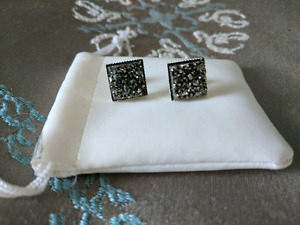 Sparkly Square Druzy Earrings New