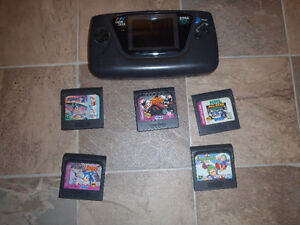 Sega Game Gear and 5 games