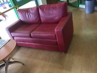 Sofa 2 seater faux leather x4