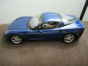 Toy Diecast Car 1 18 Scale 2005 Corvette C6 Hotwheels Model Blue
