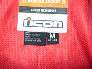 "Black Leather ICON ""Burner"" Motorcycle Jacket London Ontario image 2"