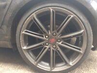 "19"" AUDI VW BMW MULTI SPOKE ALLOYS 5 x 112 NT Rotor Black Edition S3 Monza Gti RS3 Golf A3 A4 GTI"