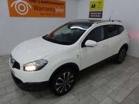 White Nissan Qashqai+2 1.5dCi 2WD N-TEC ***FROM £165 PER MONTH***