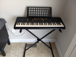YAMAHA PSR-195 ELECTRONIC KEYBOARD/PIANO WITH STAND - $60