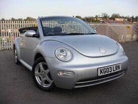 2003 03 VOLKSWAGEN BEETLE 1.6 CONVERTIBLE **ONLY 24,000 MILES FROM NEW**