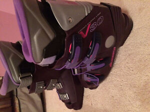 Ski shoes downhill ski boots. Used for one season and in good co