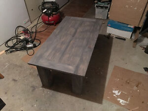 Handmade solid pine coffee and end tables