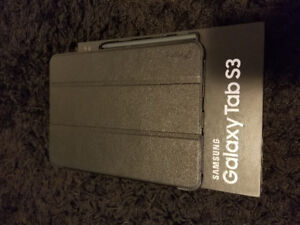 *Mint condition galaxy tab s3 32gb with portfolio case and 64gb