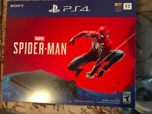 NEW UNOPENED PS4 AND PS4 SPIDERMAN BUNDLES