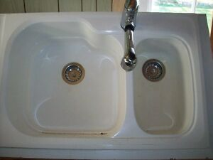 Sink with shower faucet