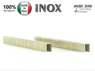 10.000 Punti Metallici Serie 80/6mm Inox AISI 316 - Graffe in acciaio inossidabi