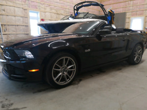 Mustang convertible  Tripple Black GT 2014