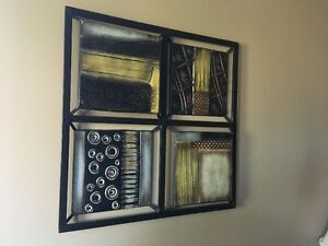 SQUARE 3D METAL ART